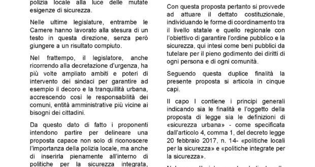 Sicurezza, presentata proposta di legge per la valorizzazione della Polizia locale